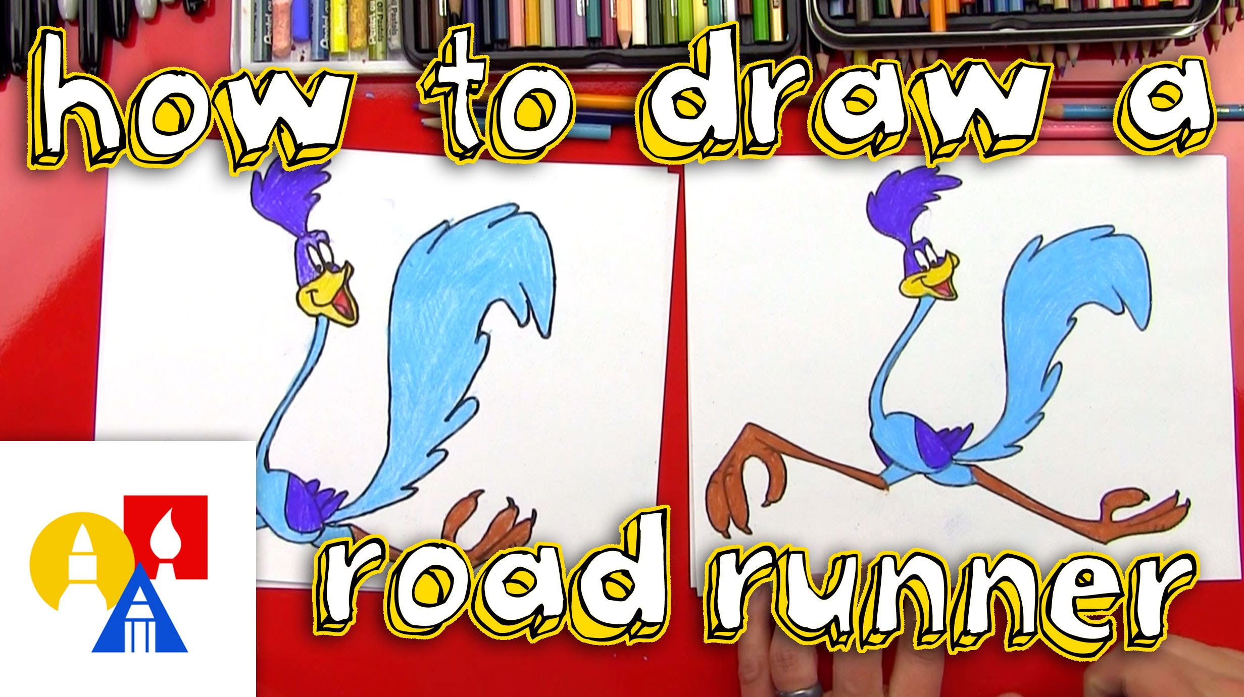 2463x1381 How To Draw A Roadrunner