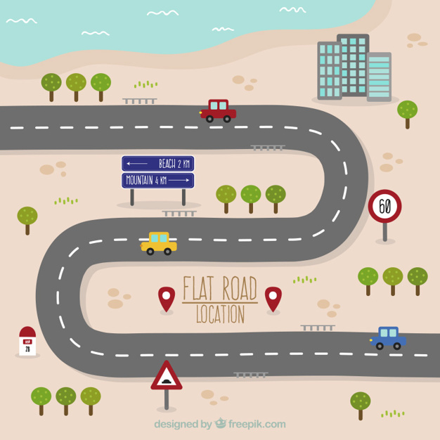 626x626 Road Map Vectors, Photos And Psd Files Free Download