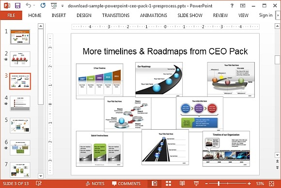 580x387 To Draw A 3d Roadmap In Powerpoint