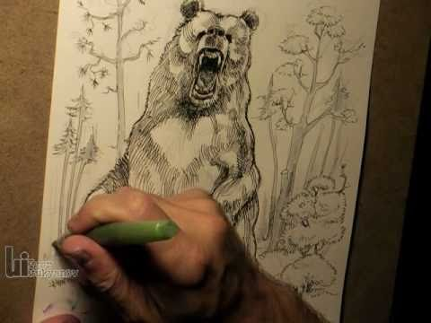 480x360 Drawing A Big Roaring Bear