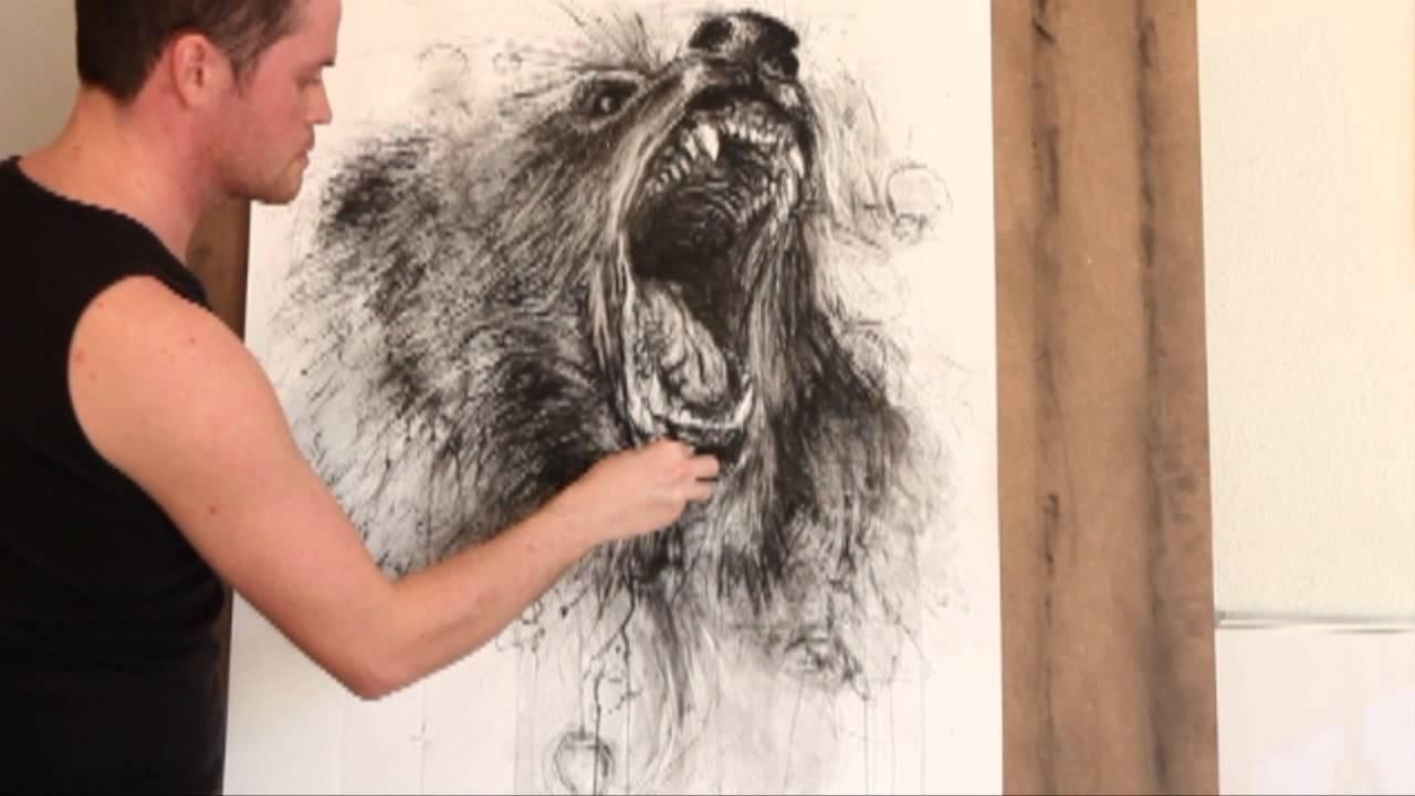 1280x720 Speedpainting Roaring Bear By Fabian Froehly