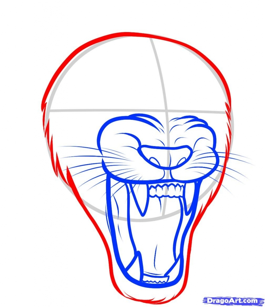 Roaring Lion Drawing At Getdrawings Com Free For Personal