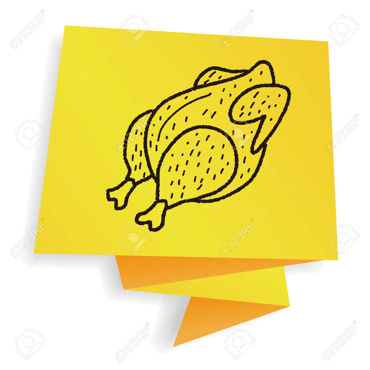 1300x1300 Roast Chicken Doodle Drawing Royalty Free Cliparts, Vectors,