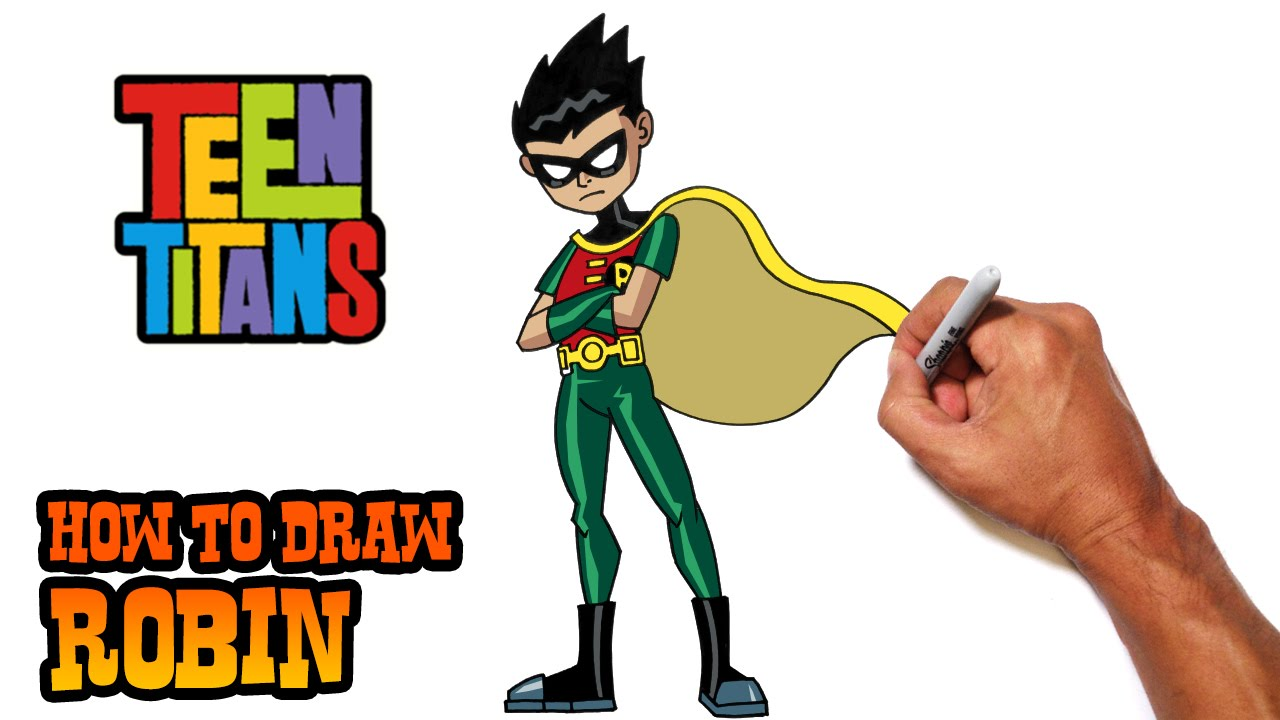 1280x720 How To Draw Robin (Teen Titans) Step By Step
