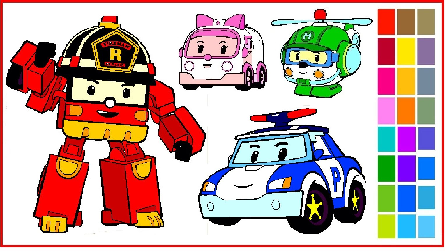 Robocar Poli Drawing At Getdrawings Com Free For Personal Use