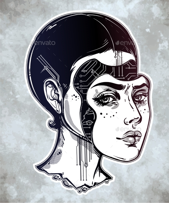 Robot Face Drawing at GetDrawings | Free download