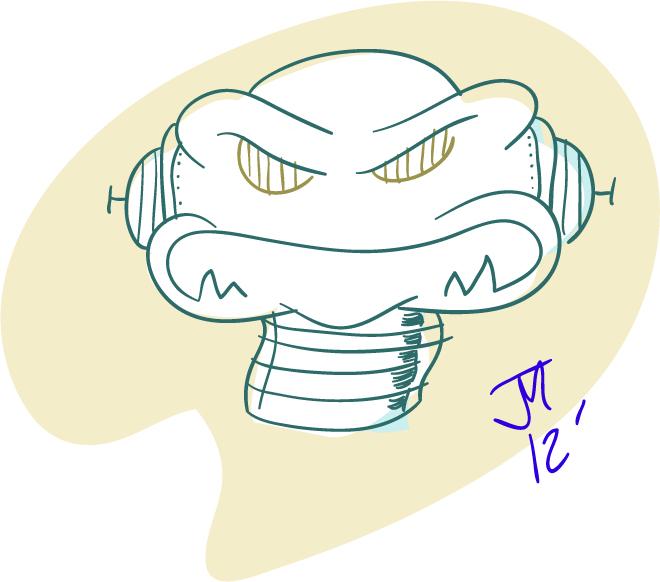 660x582 Angry Robot Drawing