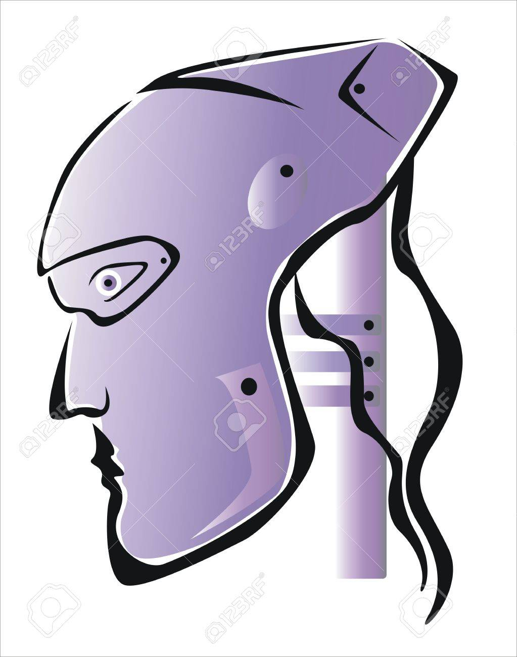 1023x1300 Drawing Of A Robot Head Royalty Free Cliparts, Vectors, And Stock
