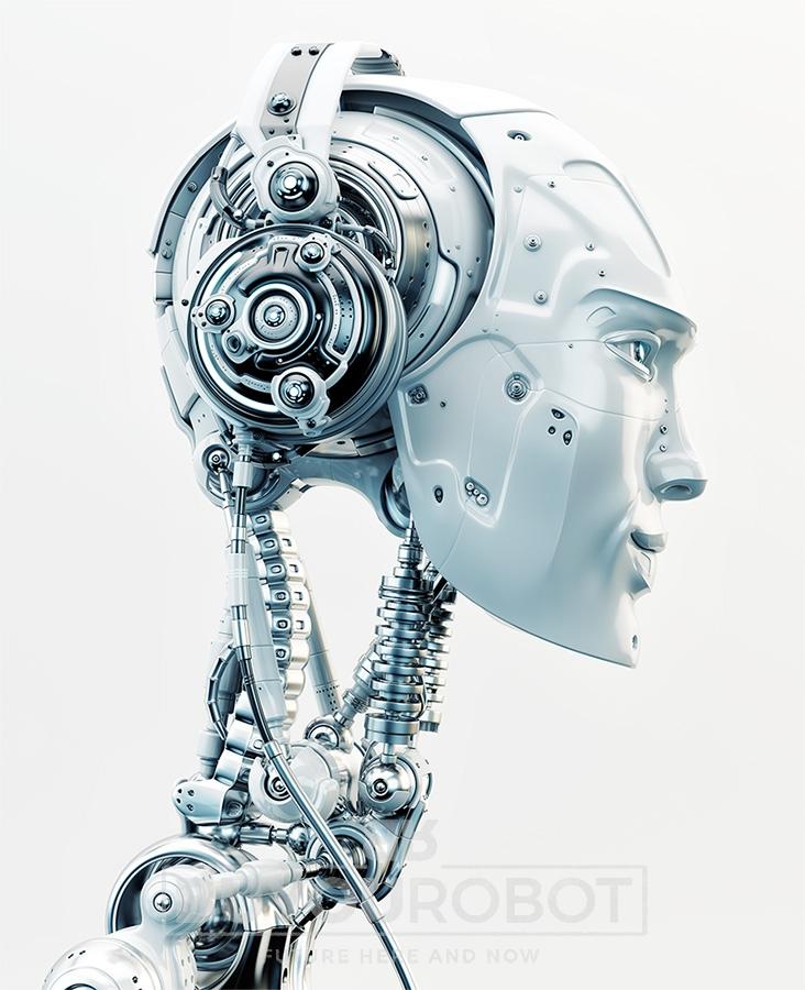 732x900 Robot In Headphones V2