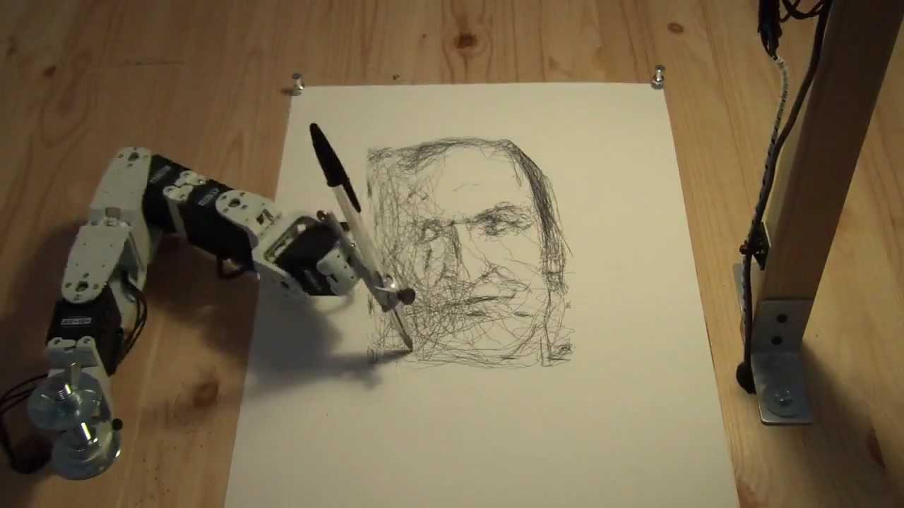 1280x720 Paul The Robot Drawing Patrick