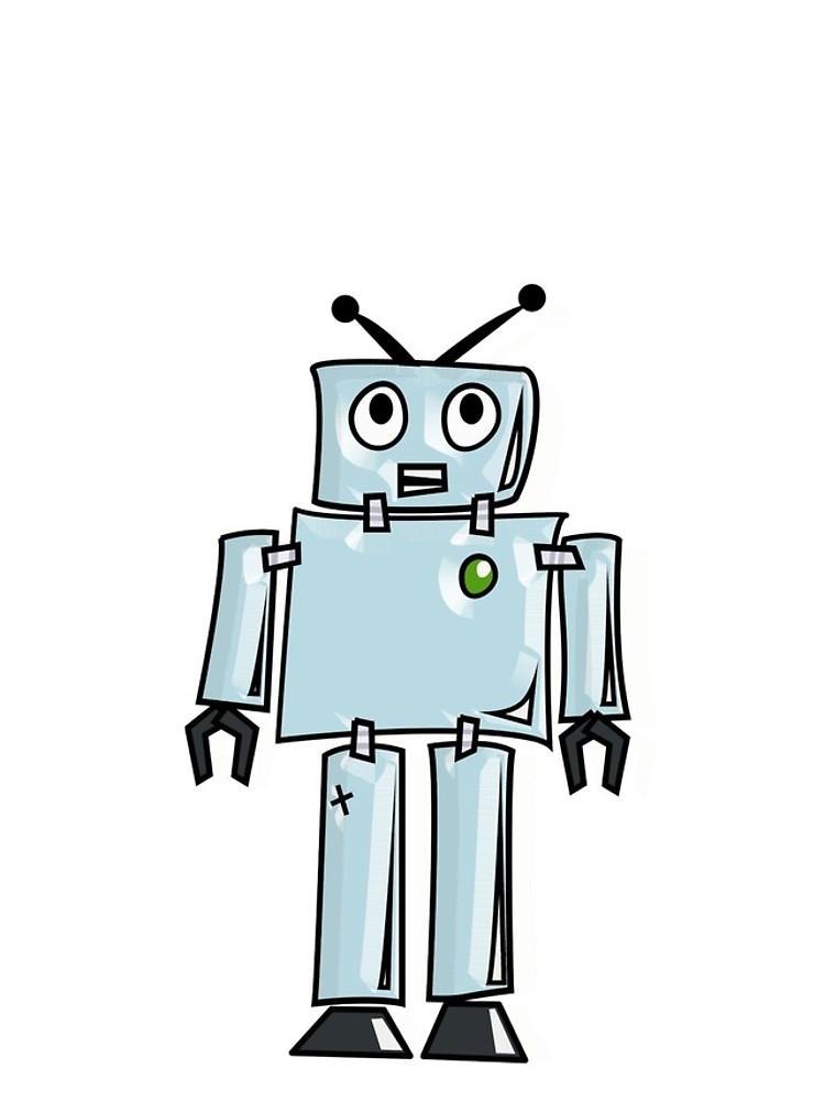 750x1000 Robot, Cartoon, Tin Man, Robotics, Toon, Line Drawing, 1950s