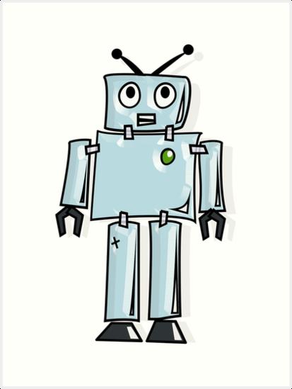 413x549 Robot, Cartoon, Tin Man, Robotics, Toon, Line Drawing, 1950s Art