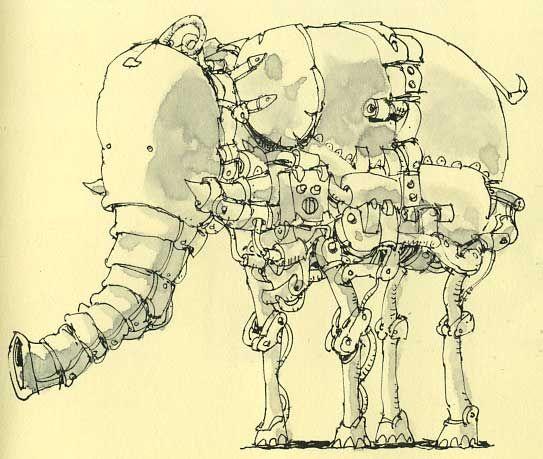 543x459 Elephant Robot Robotic Elephant By Mattiasa I Love Elephants