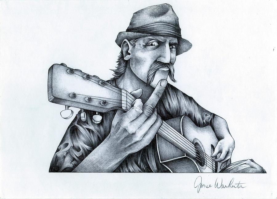 900x649 Rock' N' Roller Drawing By Jamie Warkentin