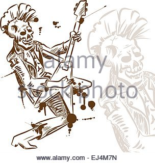 304x320 Drawing Hand Man Rock N Roll Gesture Music Icon Stock Vector Art