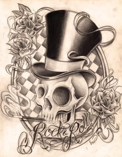 464x600 Skull Rock N Roll By Willem Janssen