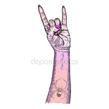 450x450 Rock On Hand Sign, Rock N Roll, Hard Rock, Heavy Metal, Music, D