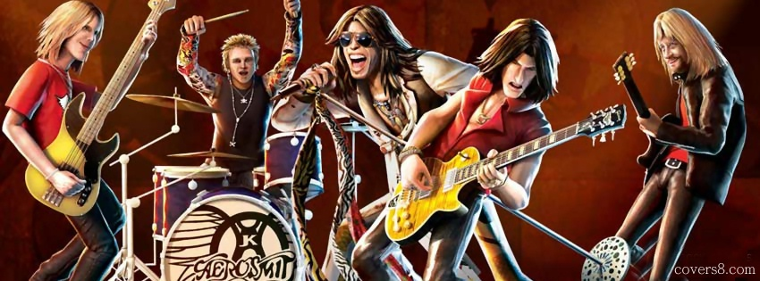 850x315 Aerosmith Rockband Drawing Facebook Cover For Timeline