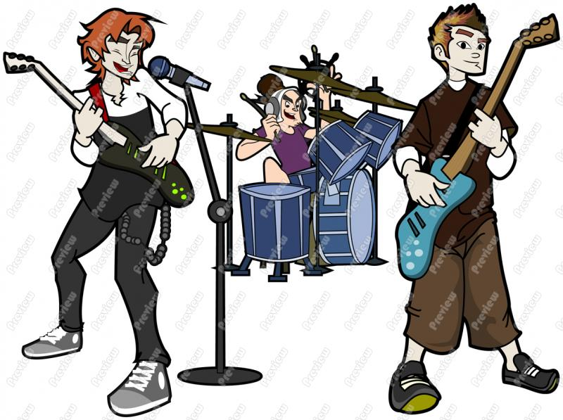 800x597 Guy Rock Band Character Clip Art