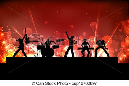 450x301 Illustration Of Youth Performing In Rock Band Eps Vectors