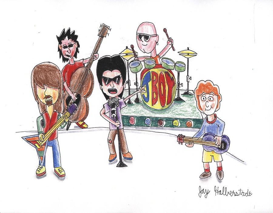 900x700 Rock Band Drawing By Jayson Halberstadt