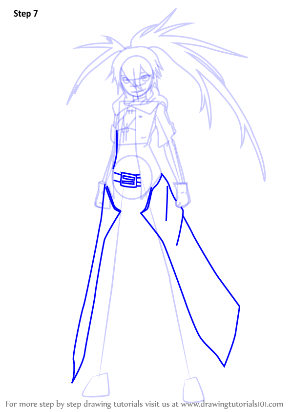 598x844 Learn How To Draw Rock From Black Rock Shooter (Black Rock Shooter