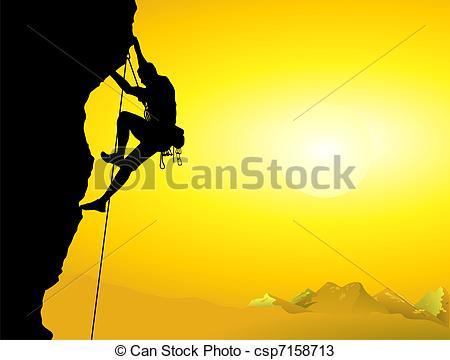 450x360 Climber On A Rock Wall Vectors