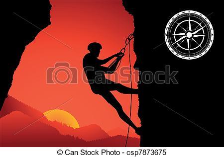 450x316 Mountain Climber Silhouette Vector Clipart Vector