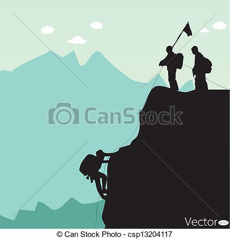 450x469 Vector Black Silhouette Of A Rock Climber Vector Clip Art