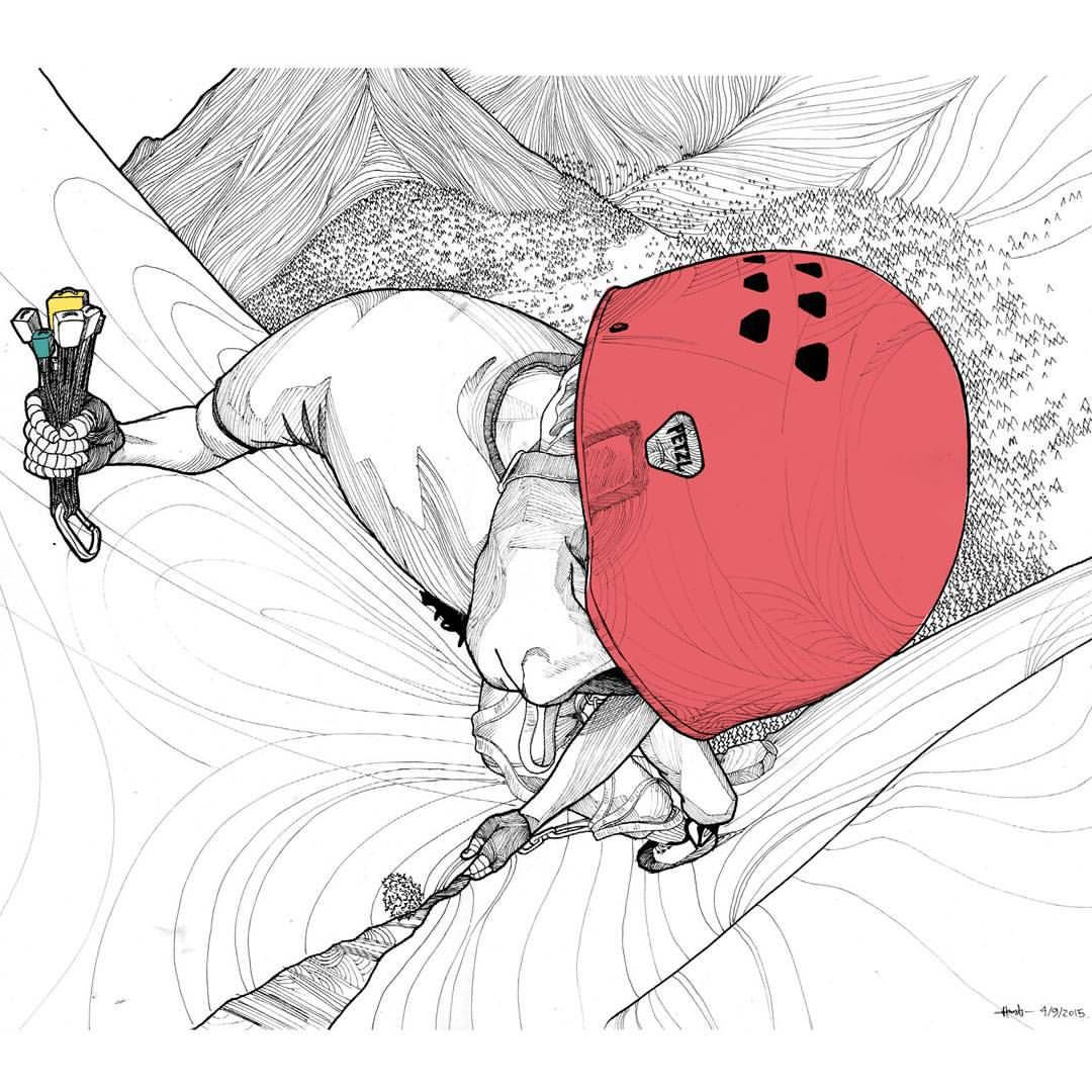 1080x1080 Rock Climbing Drawing