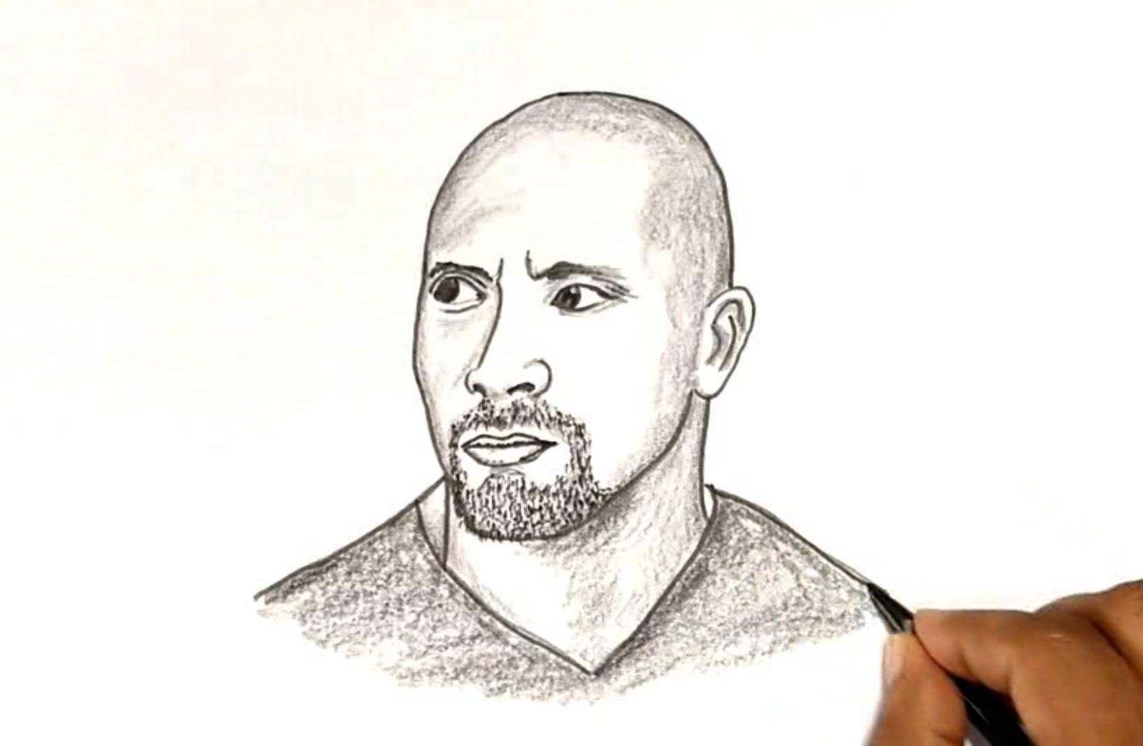 1636x1068 How To Draw The Rock (Dwayne Johnson)