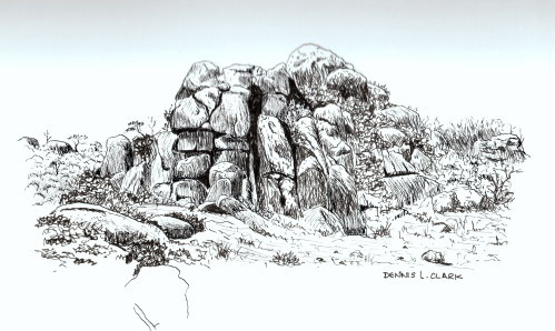 499x298 How To Draw A Rocky Ridge In Pen And Ink Online Art Lessons