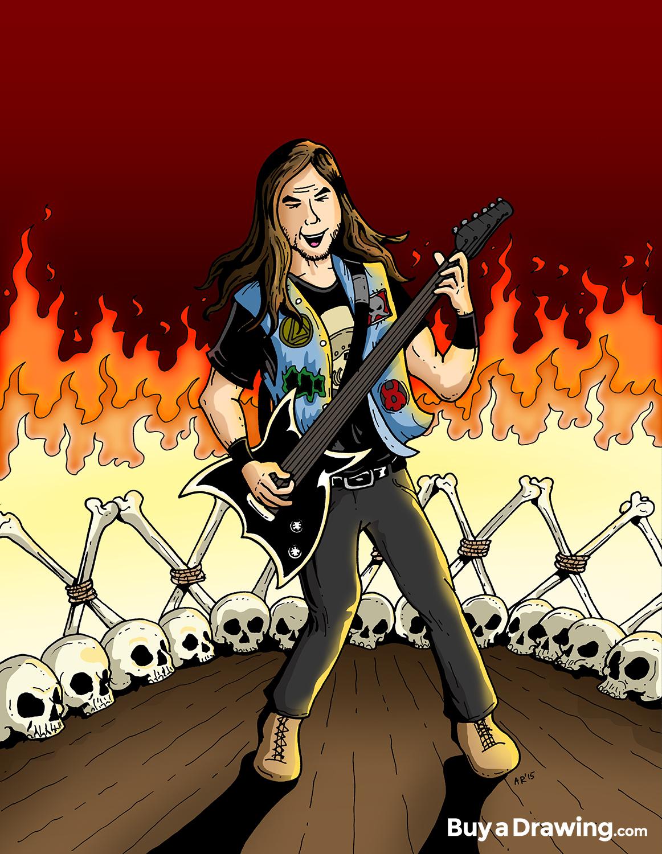 1162x1500 Draw Me As A Rock Star