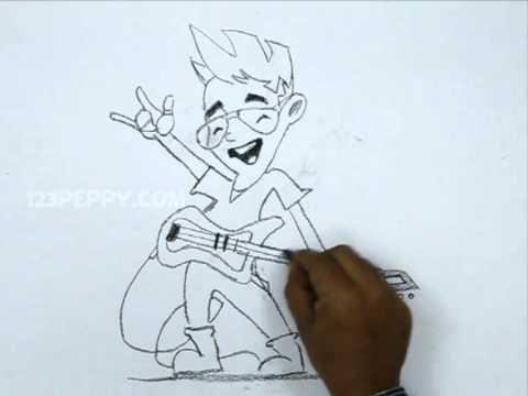 480x360 How To Draw A Rockstar Boy