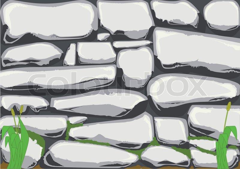 800x565 Dry Stone Wall Stock Vector Colourbox