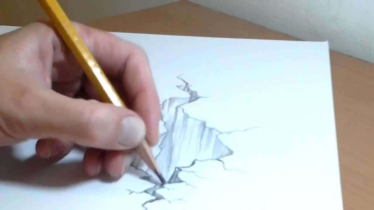 1280x720 How To Draw 3d Rocks Illusion On Two A4 Pages