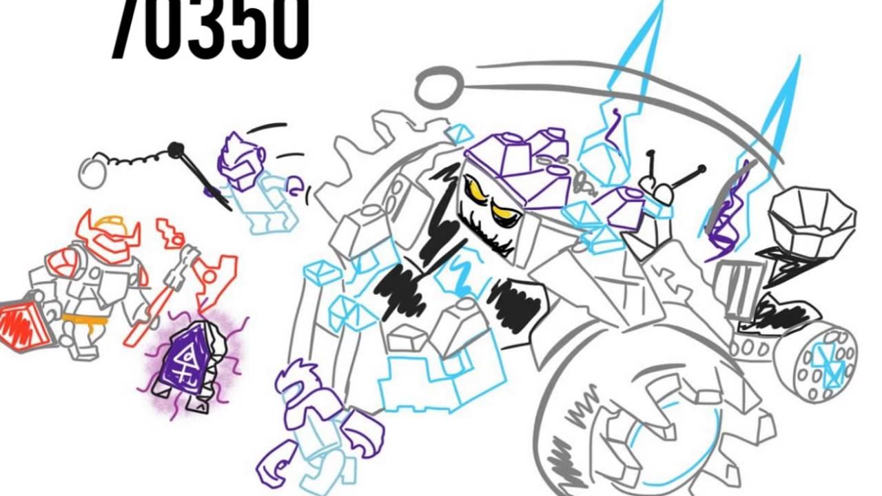 1280x720 Lego Nexo Knights 2017 Set 70350 Triple Rocker Drawing