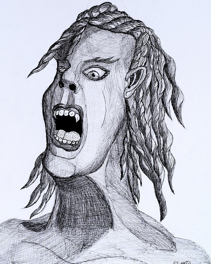 720x900 Screaming Rocker Drawing By Clark Norris