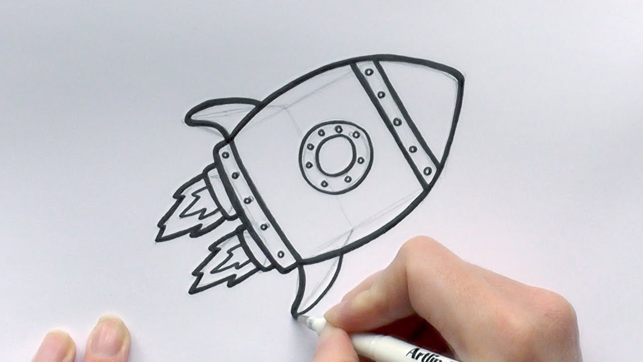 1280x720 How To Draw A Cartoon Rocketship
