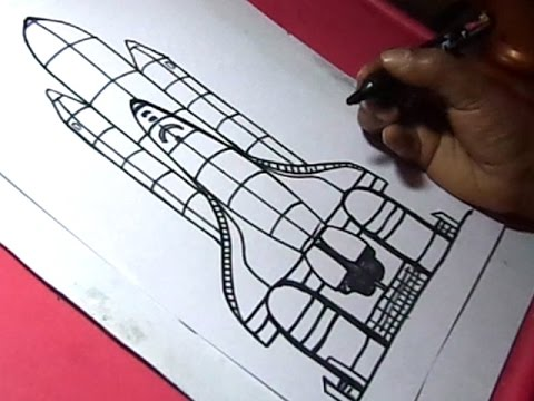 480x360 How To Draw Nasa Rocket Laucher Drawing For Kids