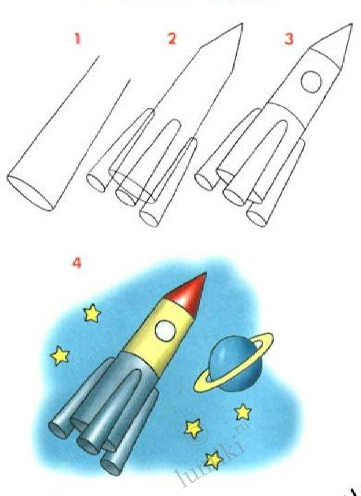 525x722 Pictures For Children To Draw. Paint A Rocket