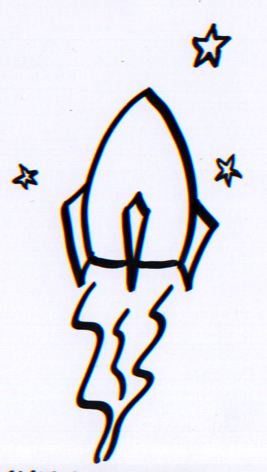 900x1591 How To Draw A Rocket Ship In Three Easy Steps