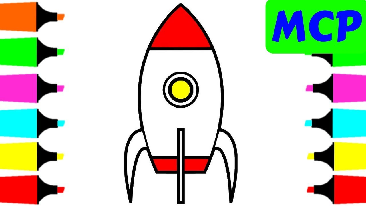 1280x720 Coloring Pages Rocket For Kids