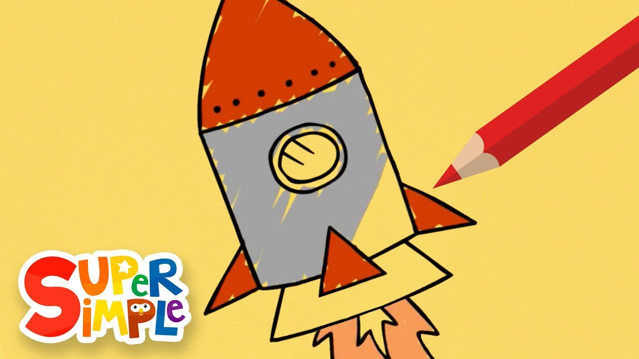 1280x720 How To Draw And Color A Rocket + More Drawing For Kids Watch