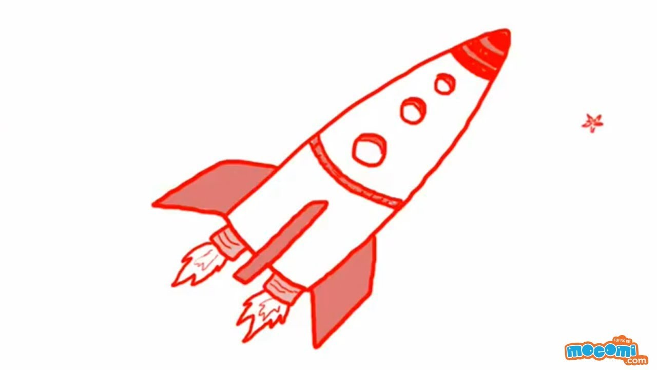 1280x720 How To Draw A Rocket