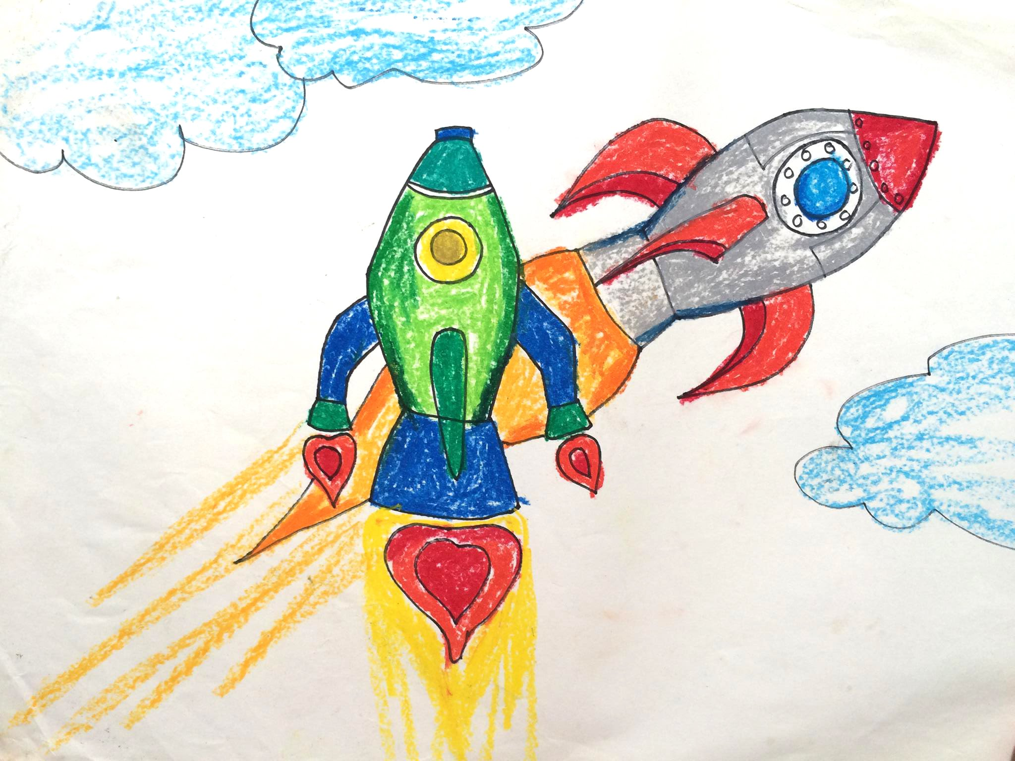 2048x1536 How To Draw Transport How To Draw A Rocket Ship For Kids