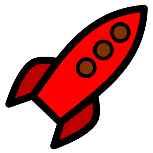 500x500 Red Rocket Drawing Image Public Domain Vectors