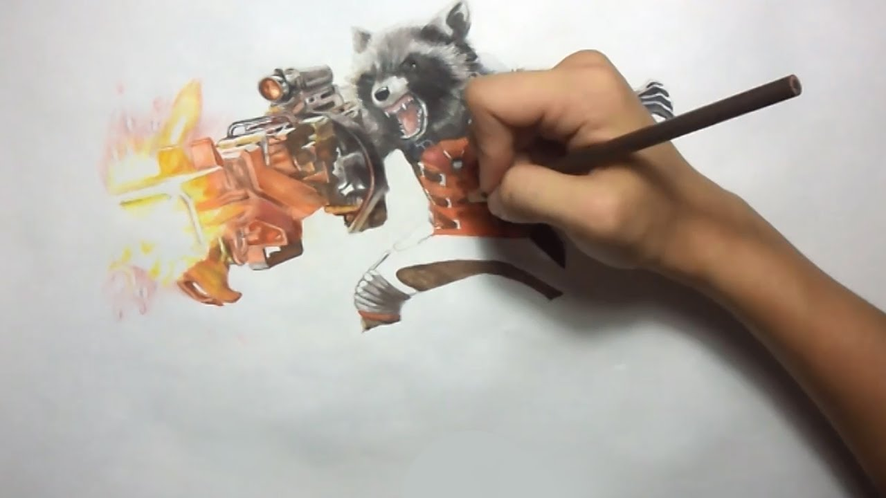 Rocket Raccoon Drawing at GetDrawings com | Free for personal use