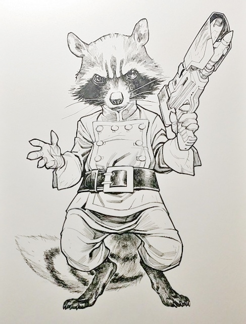 Rocket Raccoon Drawing at GetDrawings com | Free for