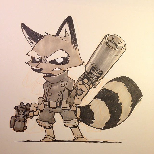 640x640 Rocket Raccoon From Guardians Of The Galaxy. So Excited For This